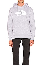 The North Face Half Dome Pullover Hoodie in TNF Light Grey Heather & TNF White