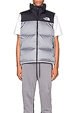 The North Face 1996 Retro Nuptse Vest in TNF Medium Grey Heather