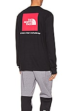 The North Face Long Sleeve Red Box Tee in TNF Black