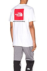 The North Face Red Box Tee in TNF White & TNF Red