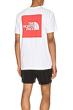 The North Face S/S Red Box Heavyweight Tee in TNF White & TNF Red