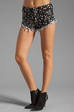 African Nights Denim Short in Star Print