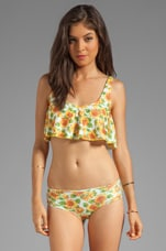 Sunflowers Crop Top in Yellow