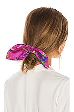 Tanya Taylor Bow Scrunchie Set of 2 in Jungle Leaves, Nude & Purple