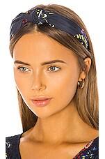 Tanya Taylor Printed Headband in Pencil Floral & Navy