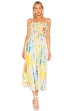 Tanya Taylor Honor Dress in Tie Dye Stripe