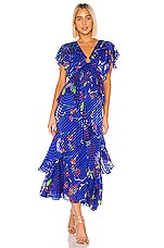 Tanya Taylor Janelle Dress in Surreal Floral Blue