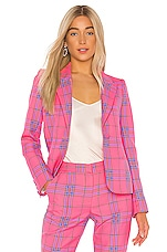 Tanya Taylor Waverly Blazer in Hot Pink Multi
