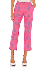 Tanya Taylor Dallas Pant in Hot Pink Multi