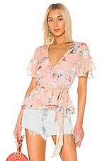 Tanya Taylor Bianka Top in Floral Blush