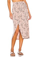 TAVIK Swimwear Alan Wrap Skirt in Clay Orchid