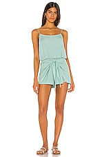 TAVIK Swimwear Louise Romper in Aquifer Blue