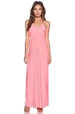 Halter Maxi Dress in Neon Pink