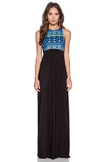 Ikat Maxi Dress in Black