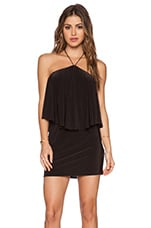Halter Mini Dress in Black