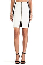 Zipper Detail Mini Skirt in Arctic White
