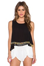 Embellished Tank in Black