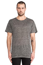 Linen Tee in Heather Grey