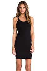 Modal Spandex Cami Tank Dress in Black