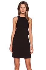 Bra Strap Back Cami Dress in Black