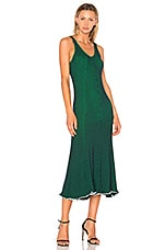 T by Alexander Wang Sleeveless Maxi Dress in Navy & Emerald Combo