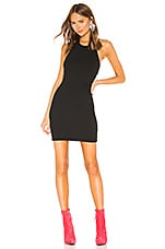 T by Alexander Wang Logo Patch Halter Dress in Black
