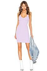T by Alexander Wang Shrunken Rib Fitted Tank Dress in Lavender