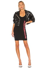 T by Alexander Wang Swim Jersey Fitted Mini Tank Dress in Black