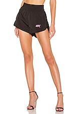 T by Alexander Wang Washed Nylon Shorts in Black