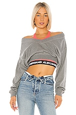 T by Alexander Wang Bi Layer Sweater in Heather Grey & Pink