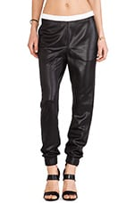 Shiny Slouch Pants in Black