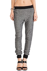 Robust French Terry Sweatpants in Black & Bone