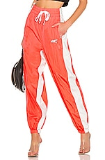 T by Alexander Wang Washed Nylon Pants in Bright Orange