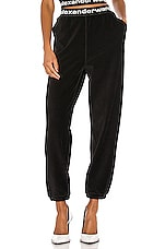 T by Alexander Wang Stretch Corduroy Pant in Black