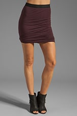 Micro Modal Spandex Twist Skirt in Iodine