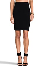 Knit Pencil Skirt in Black