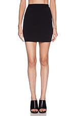 Two Tone Fitted Pencil Skirt in Black