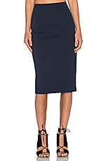 Ponte Pencil Skirt in Marine