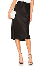 T by Alexander Wang Wash & Go Woven Drawstring Skirt in Black