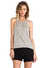 Linen Jersey Classic Tank in Light Heather Grey