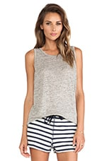 Heather Oversized Tank in Light Heather Grey