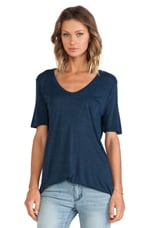T by Alexander Wang Classic Tee with Pocket in Shadow