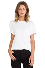 Tee with Pocket in White
