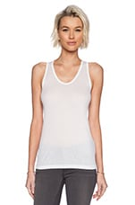 Soft Melange Rib Tank in White