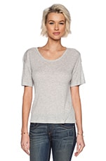 Soft Melange Rib Oversize Tee in Light Heather Grey
