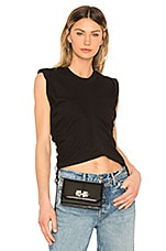 T by Alexander Wang High Twist Crop Top in Black