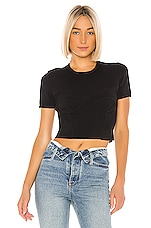 T by Alexander Wang Short Sleeve Top in Black