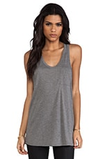 Classic Tank Pocket in Heather Grey