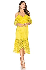 Three Floor Starry Eyed Dress in Buttercup Yellow