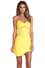 Aspen Dress in Sunshine Yellow & Nude